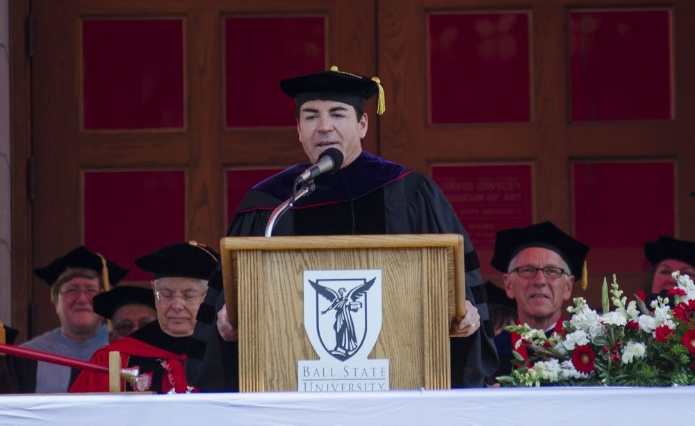 <p>One-third of the grant from the Charles Koch Foundation and John Schnatter is actually from &nbsp;the Koch Family. Schnatter, a Ball State alumnus, donated $2.17 million out of the grant, the Charles Koch Foundation donated $1.08 million.<em> DN FILE PHOTO BREANNA DAUGHERTY</em></p>