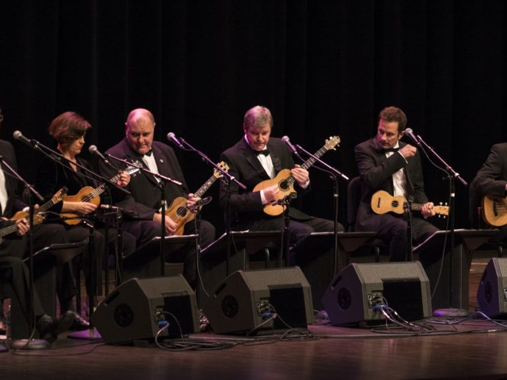 The Ukulele Orchestra of Great Britain performed at John R. Emens Auditorium on Oct. 7. The group is an original musical ensemble that features only ukuleles.