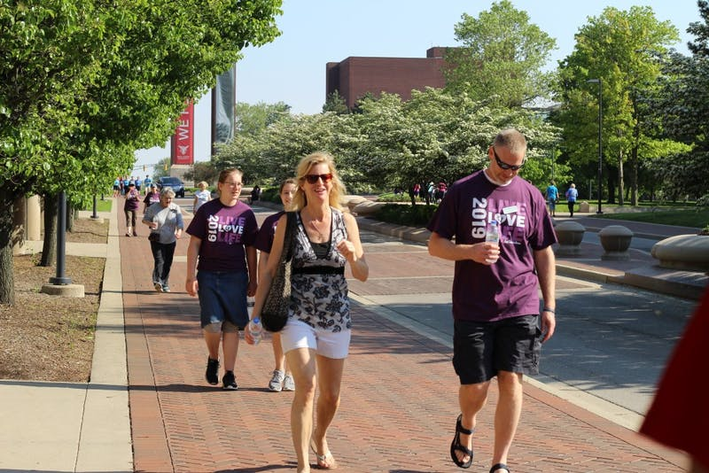 "Participants in First Choice's ""Walk for Life"" event May 18, 2019, walk down McKinley Avenue. The event helped raise funds for pregnancy care provided by First Choice. Britney S. Kendrick, DN"