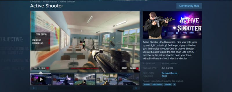 School shooting simulation 'Active Shooter' set to release June 6 on Steam