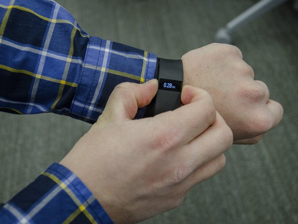 The Ball State Clinical Exercise Physiology Program found activity trackers, like aFitbit shown above,are not as accurate as we think, according to a newly released study. The study began in theFall 2014 semester; at the time there were 3.5 million trackers sold every yearin the United States. The Fitbit company has been facing a lawsuit since earlier this year due to the inaccuracies.DN FILE PHOTO BREANNA DAUGHERTY