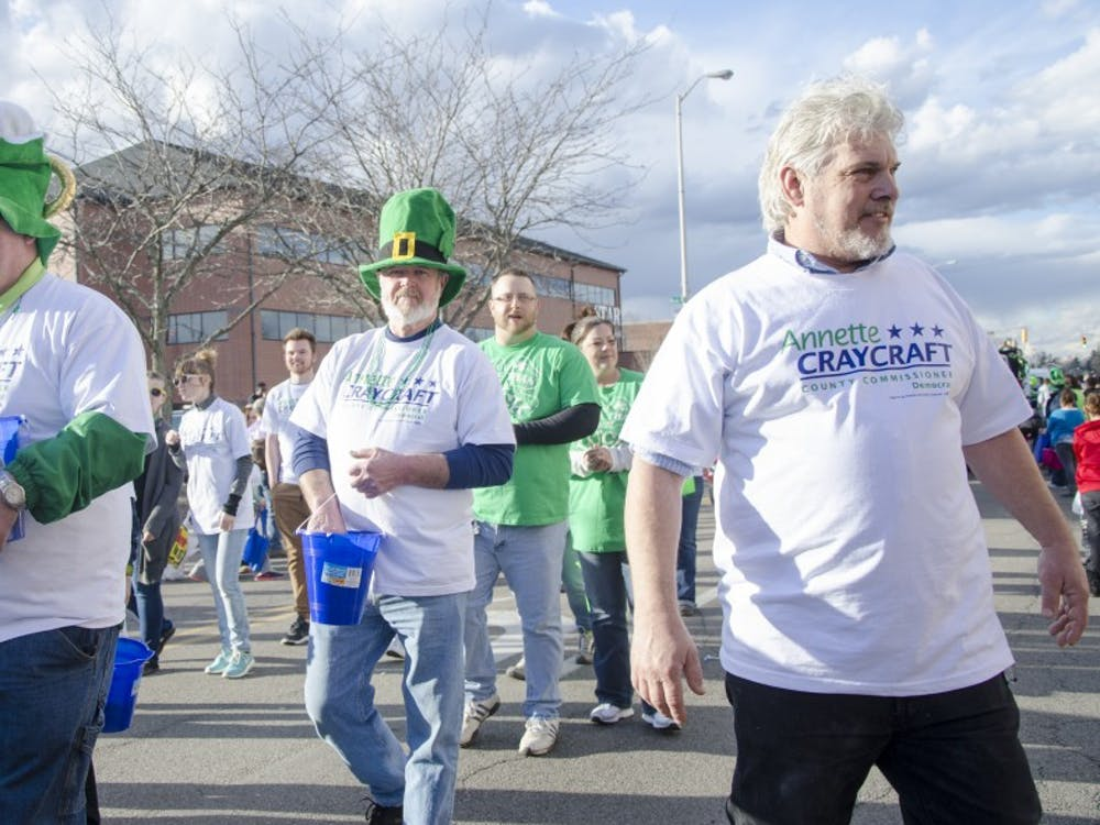 The St. Patrick's Day Parade took place in Downtown Muncie on March 17. Various floats handed out candy to parade-goers. DN PHOTO KELSEY DICKESON