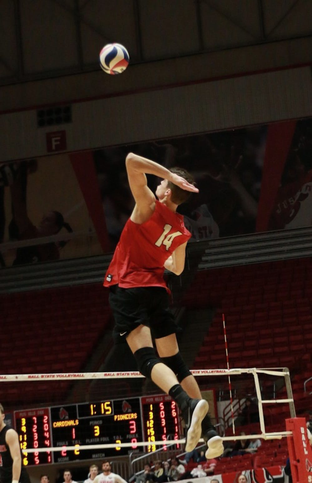 Consistency in defense, serving propel Ball State Men's Volleyball to sweep over Saint Francis