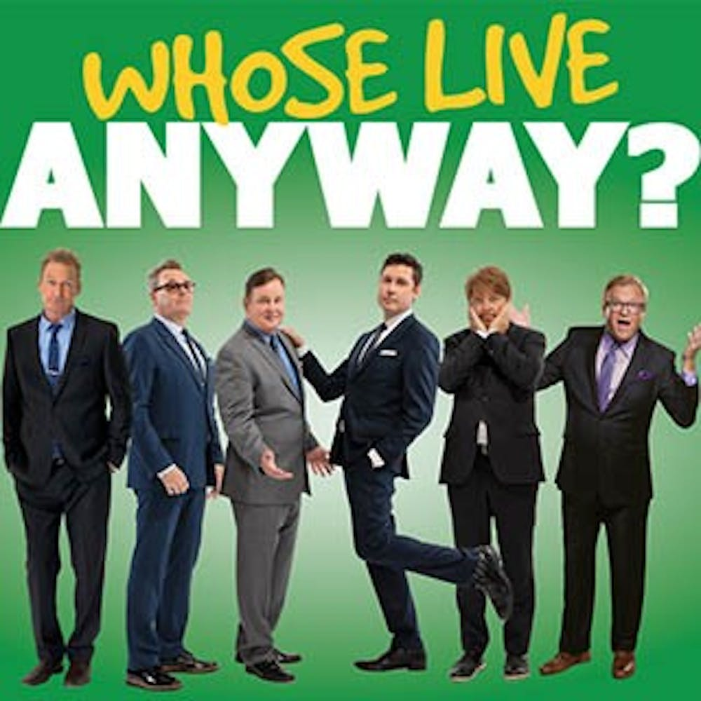 """Whose Live Anyway,"" a live improv show based on the Emmy-nominated TV show ""Whose Line Is It Anyway"" will be performing at Ball State. Special guests Dave Foley and Drew Carey will also be joining the show. Emens Auditorium, Photo Courtesy"