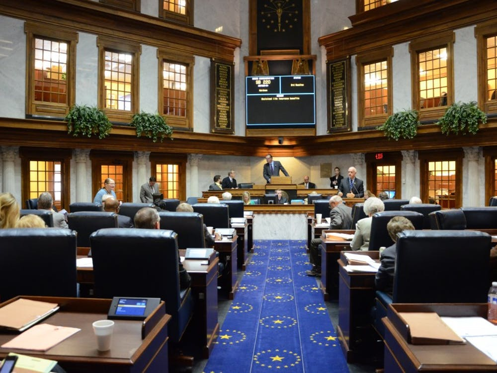 The Indiana State Senate votes on the day's legislation during the 2014 session. Senators and representatives returned to the Statehouse Monday to begin the 2015 legislative session. DN PHOTO ARIC CHOKEY