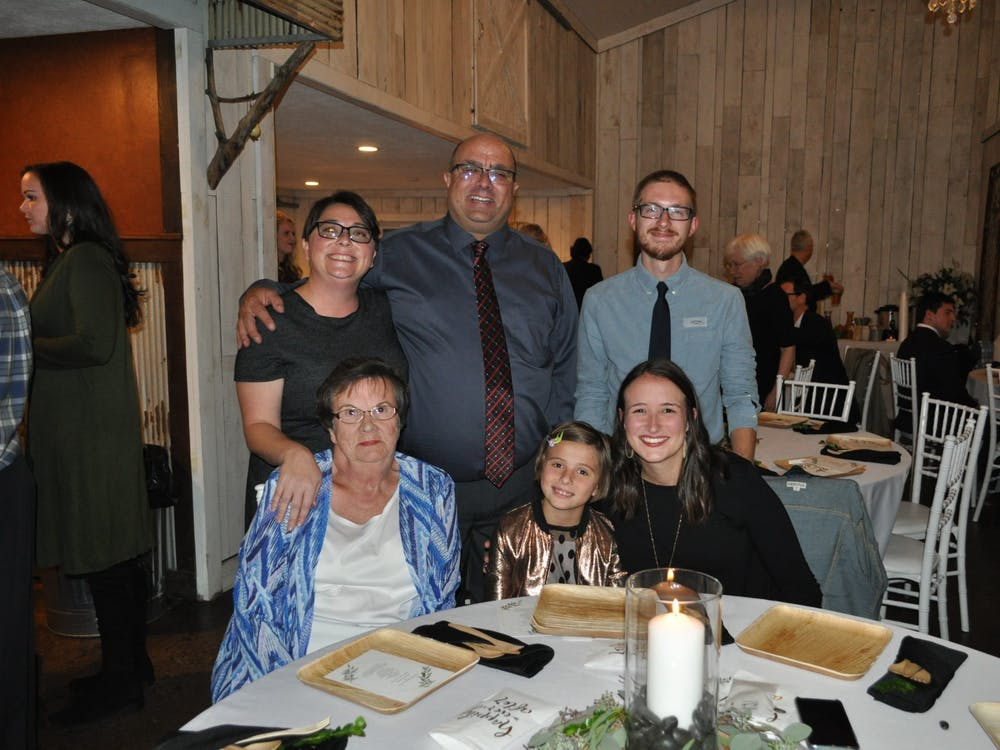 Mike Stetzel, back middle, poses with his family at his cousin's wedding Oct. 9, 2018. This photo was taken after Stetzel had already had his new kidney for almost 3 years. Mike Stetzel, Photo Provided.
