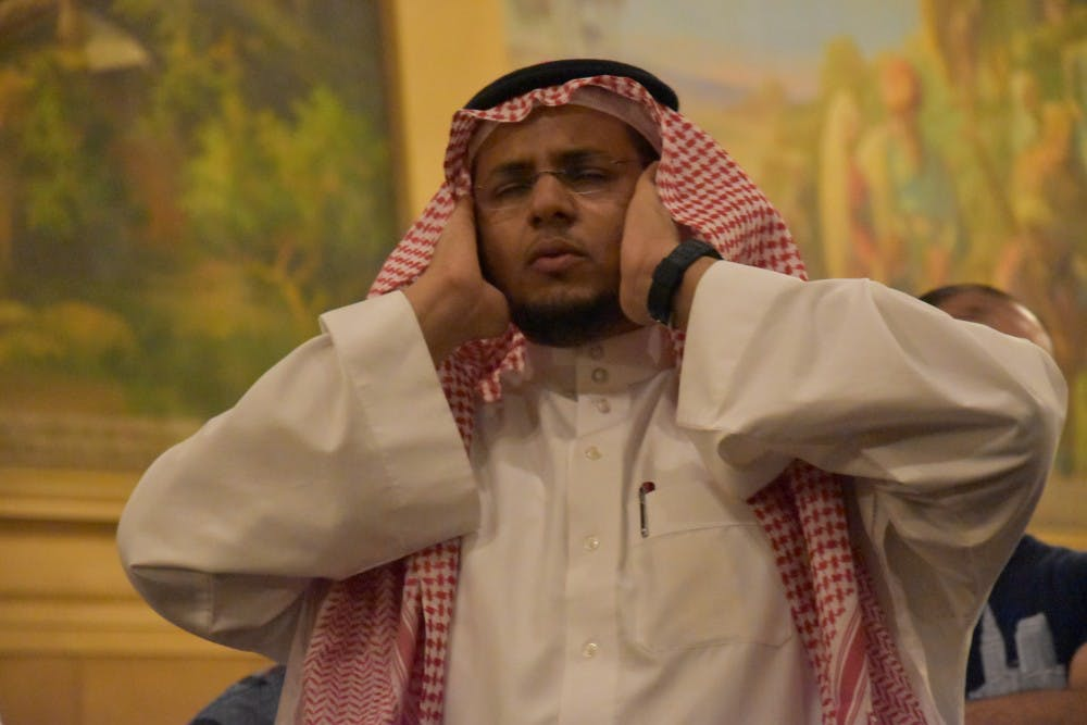 <p>The Saudi Student Club held Eid al-Adha celebration on Monday at Cornerstone Center for the Arts that featured prayers, a magician, games and food. <em>Patrick Calvert // DN&nbsp;</em></p>