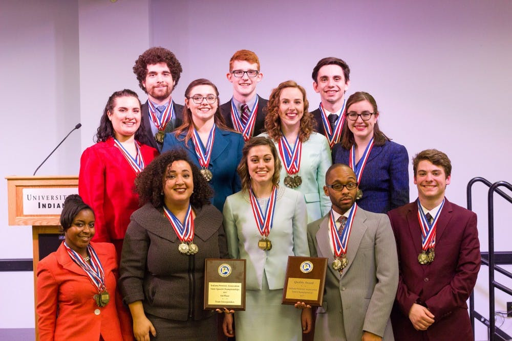 Speech team wins 17 awards at state competition
