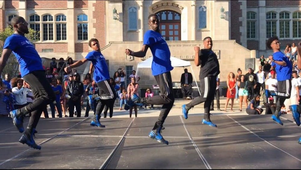 <p>The Lambda Beta chapter of Phi Beta Fraternity, Inc. performing at the 2018 NPHC Yard Show Sept. 30, 2018, in the Quad. NPHC fraternities and sororities on campus are currently looking for dedication plots at Ball State. <strong>Connie Prater, Photo Provided</strong></p>