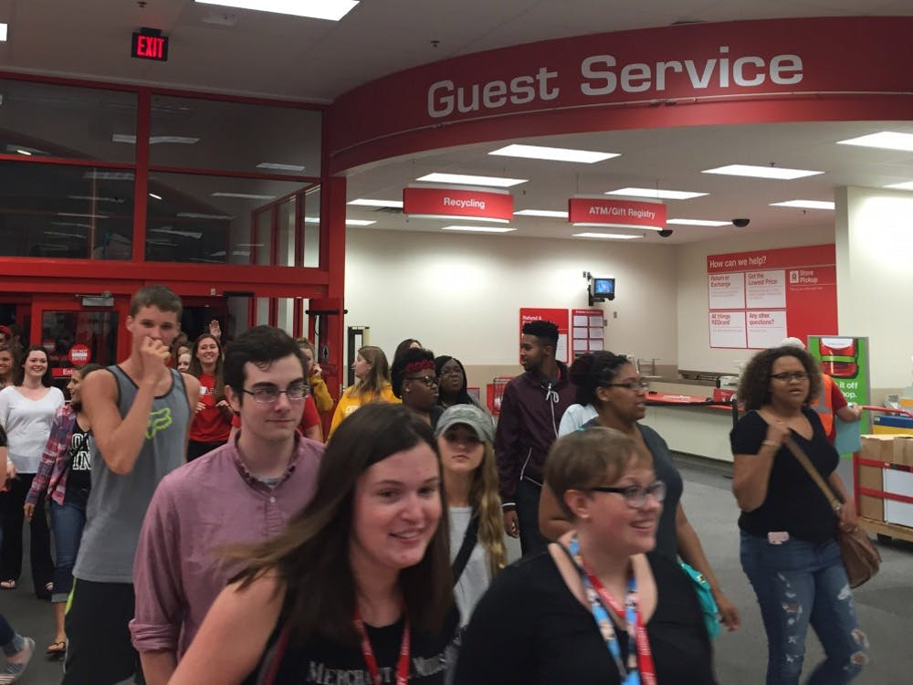 About 2,000 students were bussed to Target on Aug. 20for a Ball State exclusive shopping visit to the store from 10:30 p.m. to 1 a.m. DN PHOTO CASEY SMITH