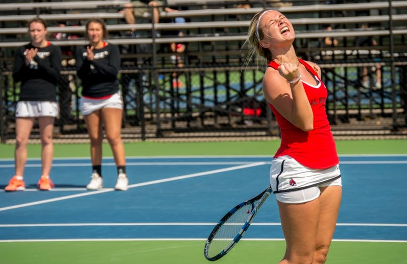 Ball State women's tennis competed against against Buffalo on April 2 at the Cardinal Creek Tennis Center. The Cardinals won 5-2, and now stand 6-6 overall, 0-2 MAC.