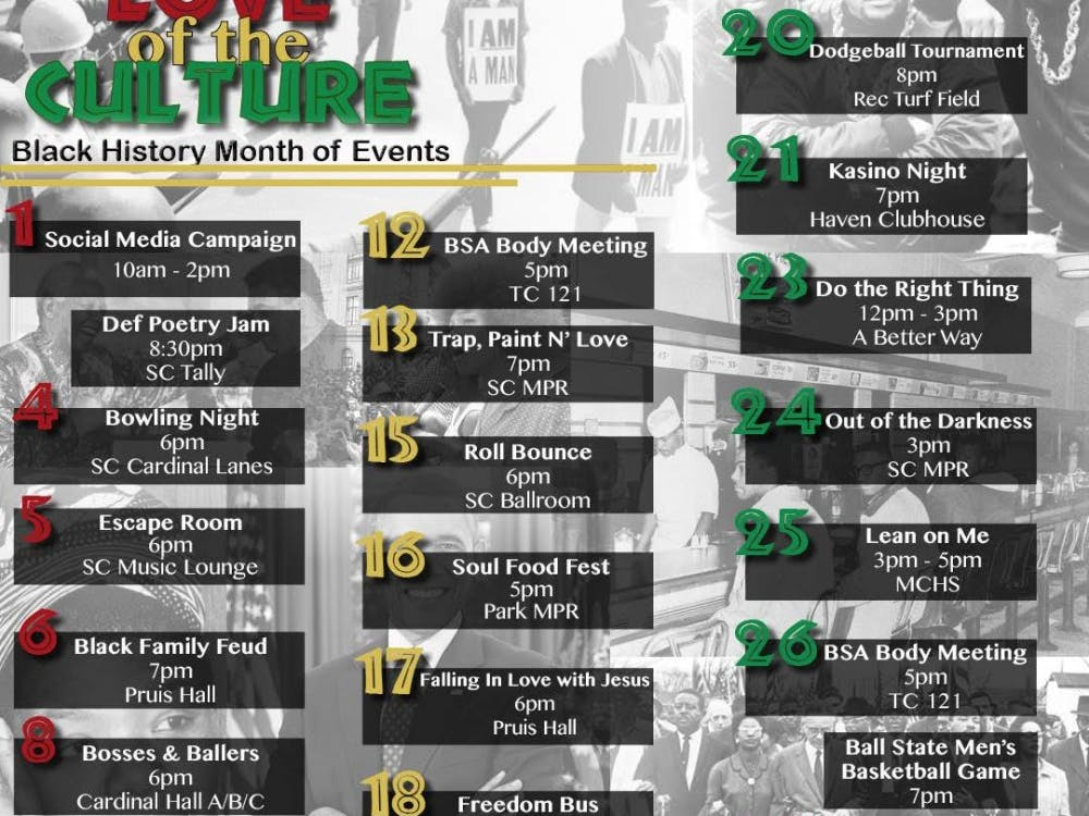 BSA Black History Month events. BSA, Photo Provided.