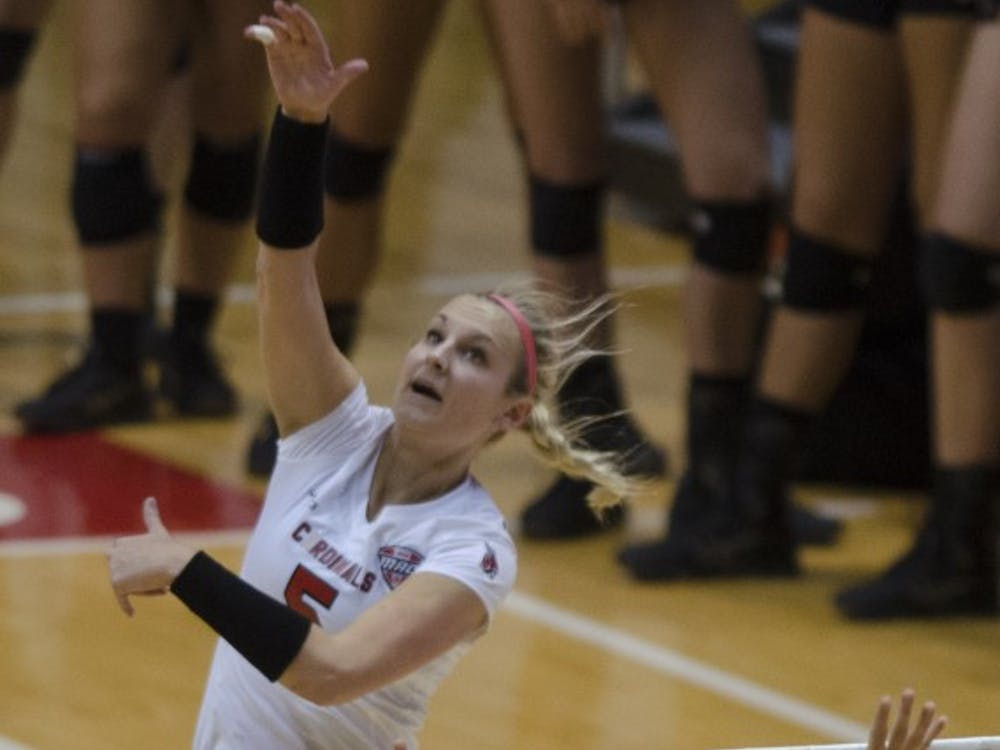 Ball State took on the Toledo Rockets on Nov. 7. The Cardinals dropped the match 2-3