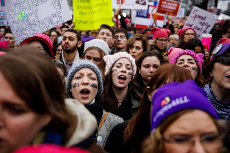 Students join voices in D.C. Women's March