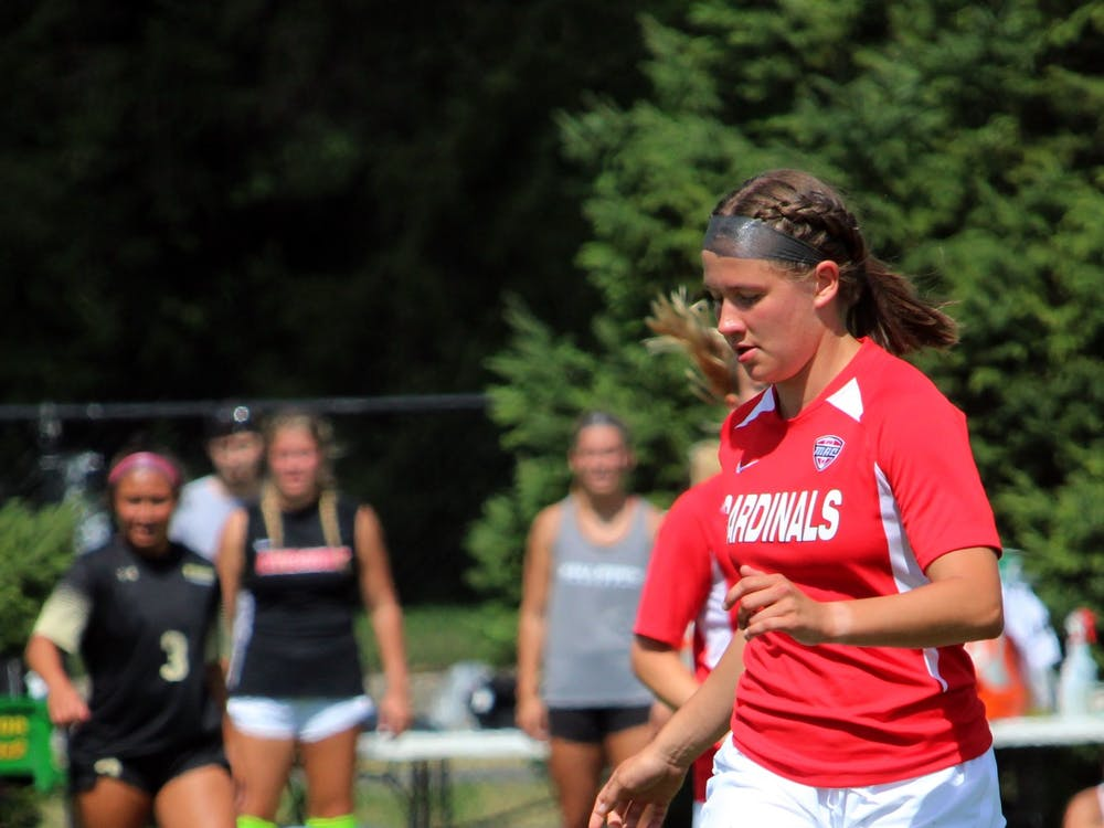 A player for Ball State Soccer goes for the ball in a game against Purdue Fort Wayne, Sunday, Sept. 5, 2021. DN, Amber Pietz
