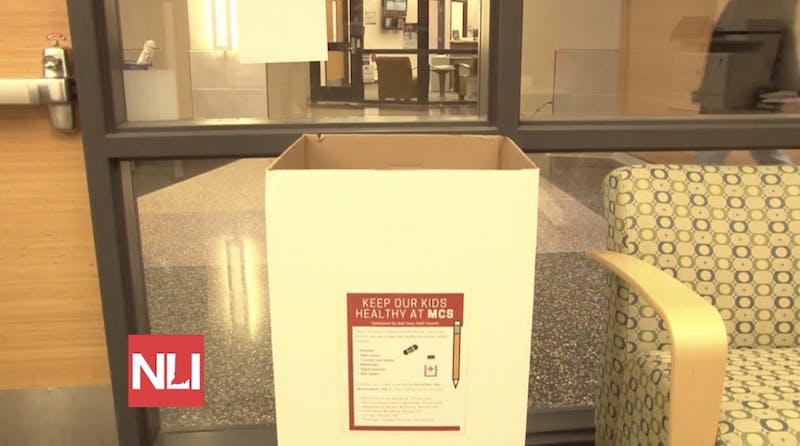 The Ball State Staff Council collects donations for Muncie Community Schools