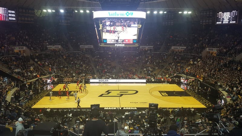 Ball State Men's Basketball traveled to West Lafayette, Indiana, to play Purdue Saturday, Nov. 10 in Mackey Arena. The Cardinals fell to the Boilermakers, 84-75. Zach Piatt, DN