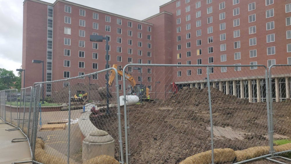 Work on the demolition of LaFollette Complex continues May 29, 2020. The Brayton/Clevenger portion of the complex will be the last portion of the complex that will remain open. Rohith Rao, DN