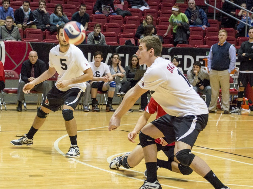 The Ball State men's volleyball team fell to Grand Canyon in the first match of their double-header on March 13 at Worthen Arena.
