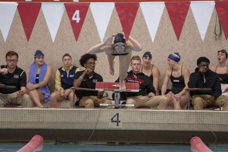 Ball State Woman's Swimming and Diving team faced Akron this weekend