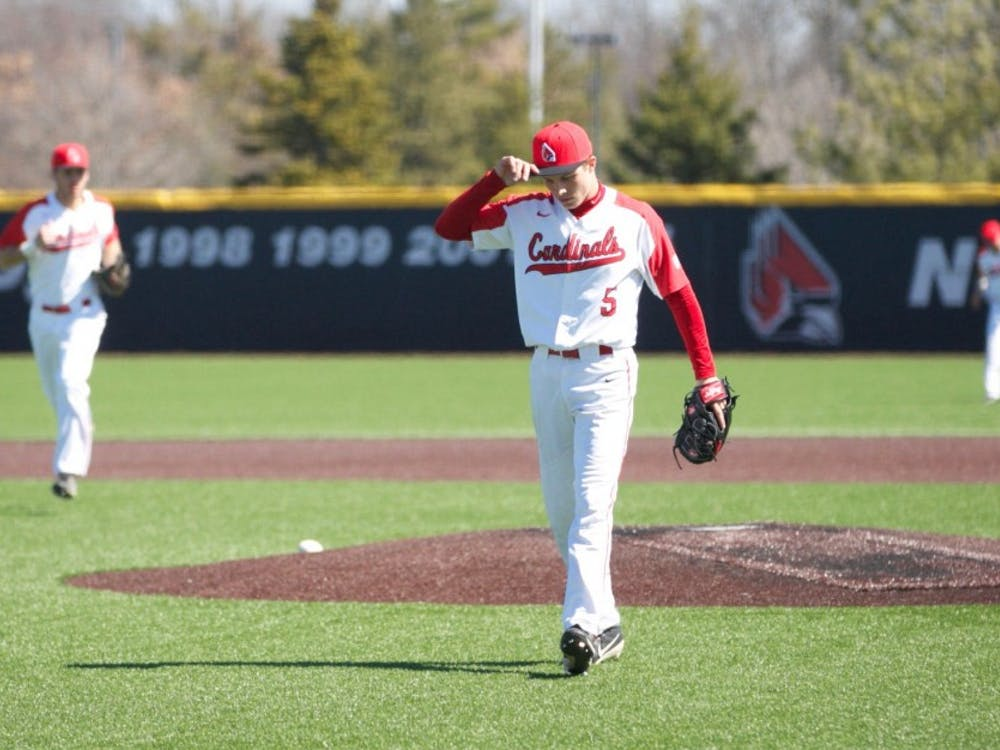 Then-freshman Drey Jameson walks off the field after striking his last batter out in the third inning during the game against Dayton March 18, 2018. Carlee Ellison, DN