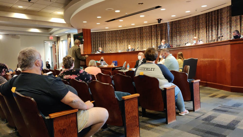 Carl Malone, parks superintendent of the City of Muncie, speaks June 1, 2020, at the Muncie City Council meeting. This was the first in-person City Council meeting since the COVID-19 pandemic. Rohith Rao, DN