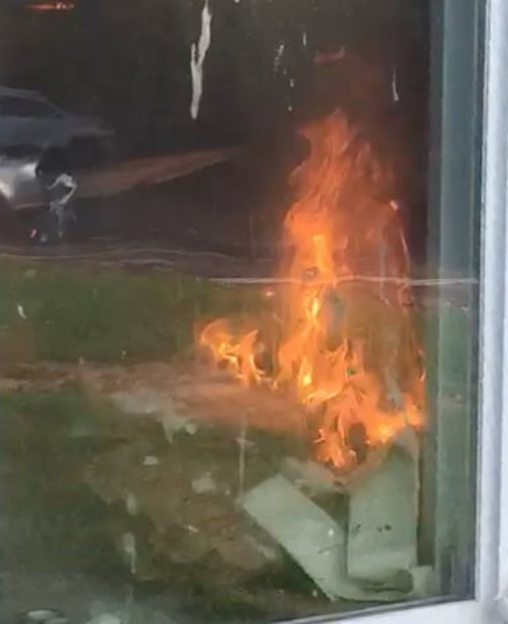 <p>The men's volleyball house caught fire Wednesday morning. The fire, caused by a toaster that caught on fire due to an electric malfunction, resulted in no injuries and the majority of the damage was done by smoke.&nbsp;<em>Sam Parker //&nbsp;</em><em>NewsLink Indiana</em></p>