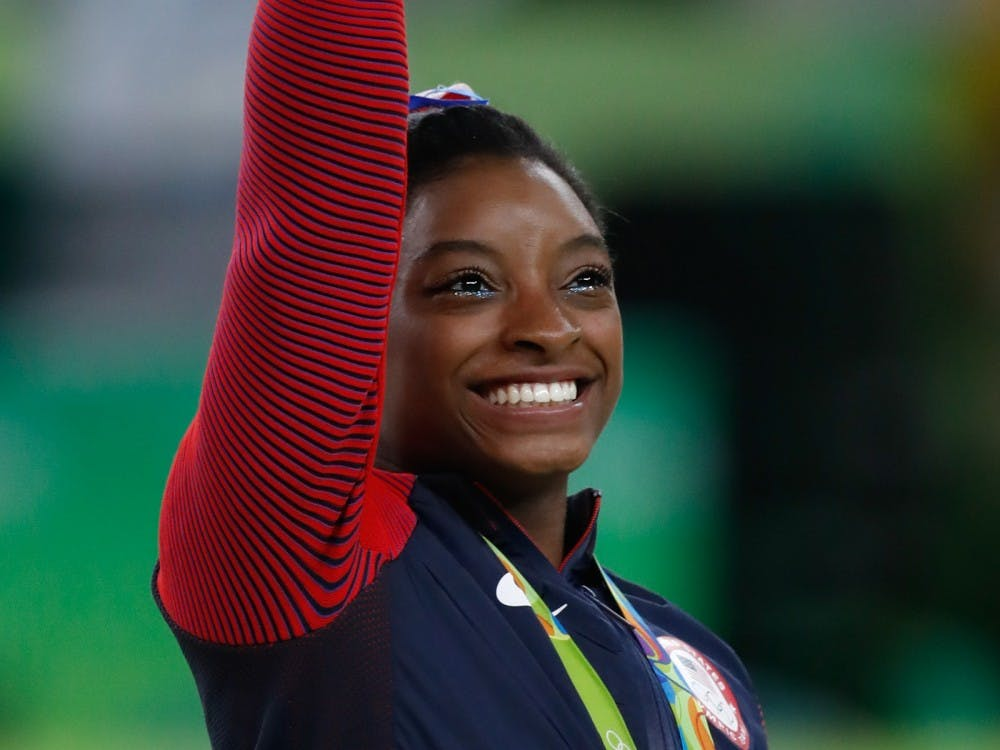 Simone Biles at the Rio Olympics in 2016. Biles dropped out of the competition at the 2021 Tokyo Olympics, but returned to compete on the balance beam and won bronze. Photo courtesy of Wikimedia