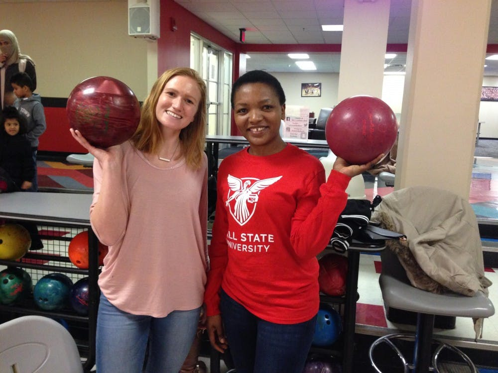 Christine Munsell and Justine Waluvengo were matched in the Friendship Families program, which pairs an international student with a student or family from Muncie. They do monthly activities together as part of the program. Photo provided