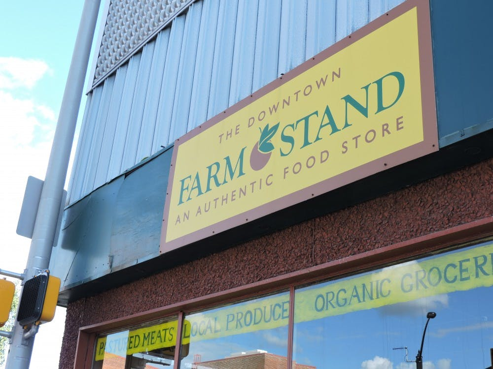 <p>The Downtown Farm Stand has taken one of the hardest hits from the construction happening in downtown Muncie right now. The owner Dave Ring, says he has lost 30 percent of sales during the construction project currently going on. <em>Tina Maric // DN&nbsp;</em></p>