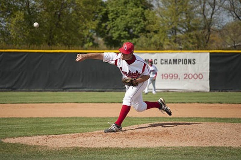BASEBALL: Ball State pitcher develops submarine delivery