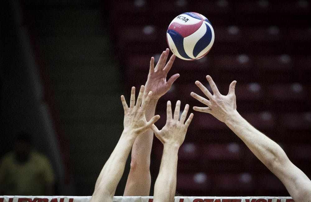 Ball State hosted Harvard Crimson, Saturday, Jan. 20 at John E. Worthen Arena talking the Crimson into four sets. Ball State defeated the Crimson, 25-22, 23-25, 25-21, 25-9. Men's Volleyball will be back to Worthen, on Feb. 16. Grace Hollars, DN