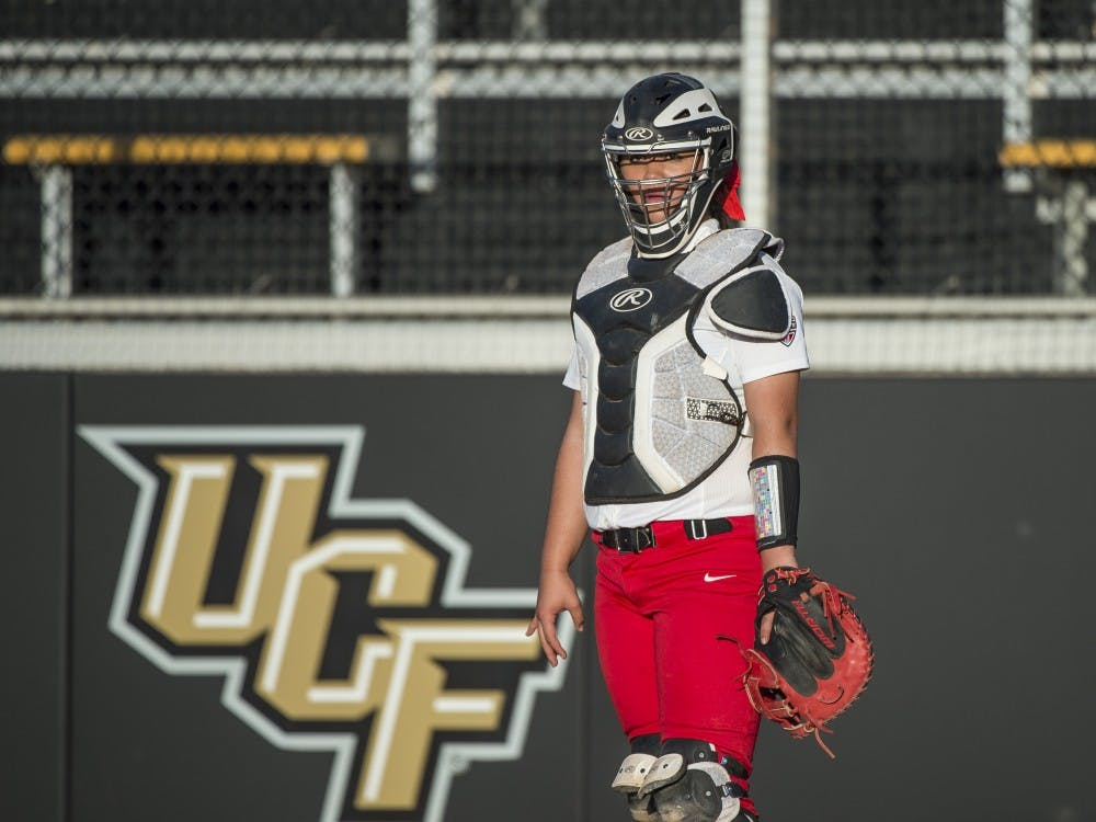 March 8, 2016: NCAA Softball game action between Ball State Cardinals and the UCF Knights in the UCF Spring Fling at UCF Softball Complex in Orlando, Florida