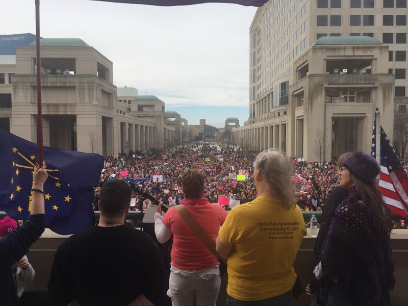 Students attend Women's March in Indianapolis