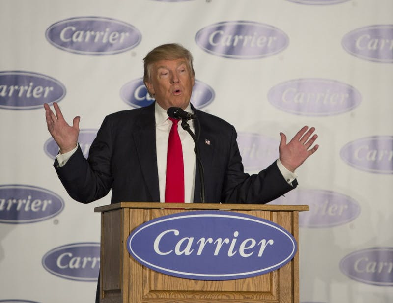 Trump, Pence visit Carrier to announce deal to keep around 1,000 jobs