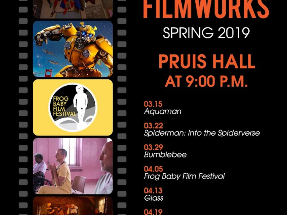 The University Program Board has released the rest of its schedule for the Spring 2019 semester. The films will be shown at 9 p.m. Friday nights in Pruis Hall.
