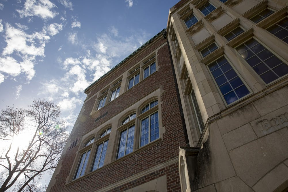 <p>Clouds reflect on the windows of the David Owsley Museum of Art Nov. 10, 2020, in The Quad. Recently, the museum updated its online database to showcase more of its collection. <strong>Jacob Musselman, DN</strong></p>