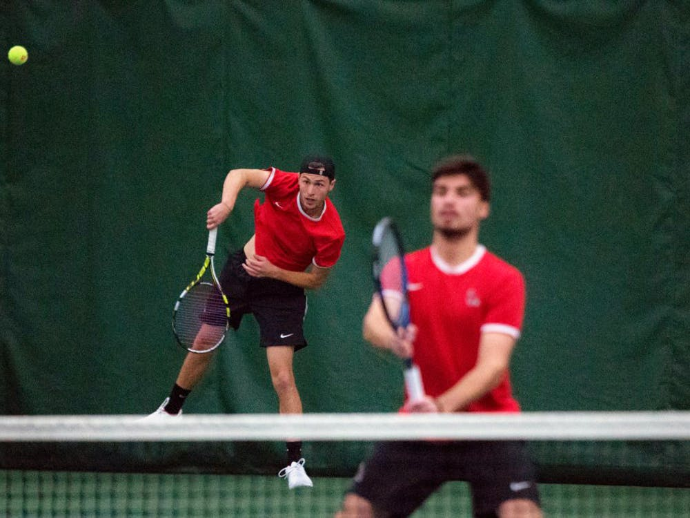 Ball State mens tennis competed against Toledo March 24. The Cardinals won 5-2.