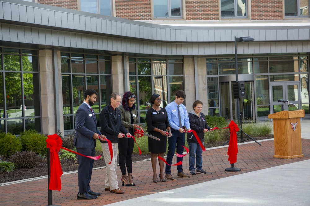 Ball State's North Residential Neighborhood celebrated with ribbon-cutting ceremony