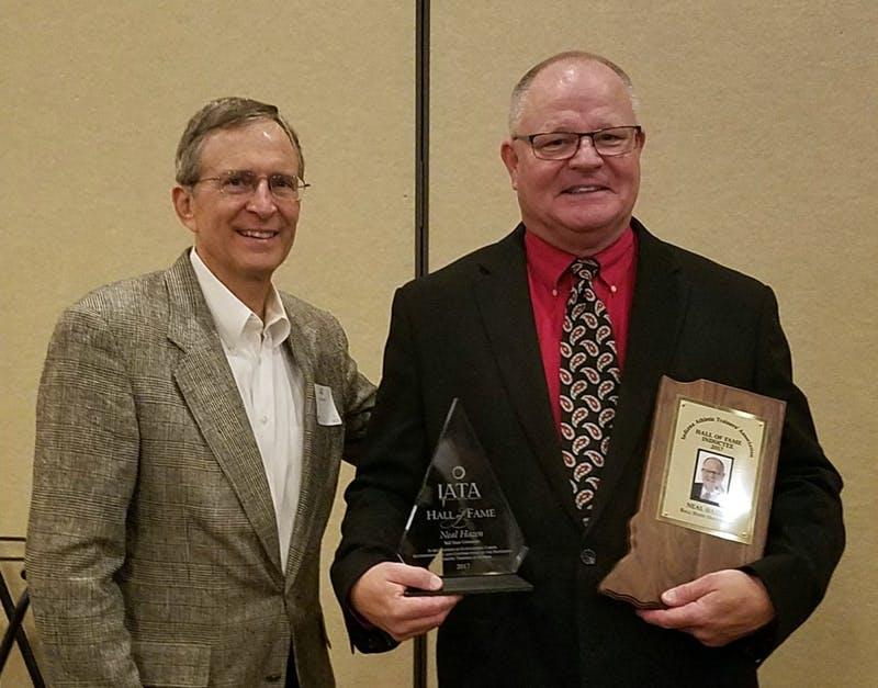 Ball State head athletic trainer Neal Hazen after his induction into the IATA Hall of Fame. Troy Hershman, Photo Provided