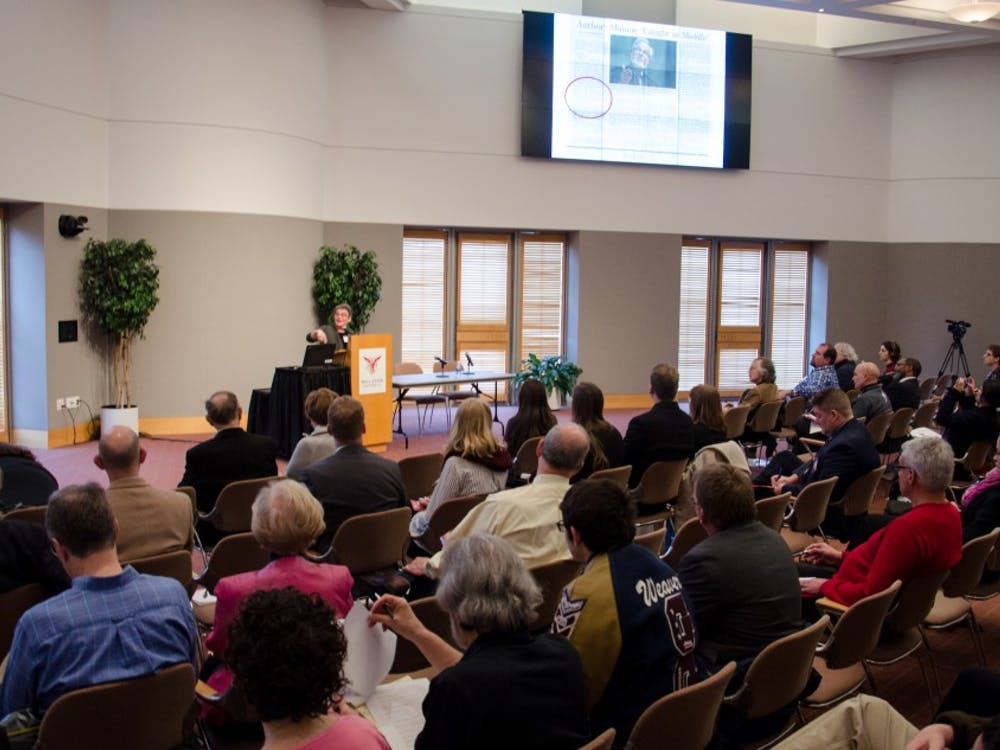 The Benjamin V. Cohen Peace Conference: Peace in Troubled Times was held in the Alumni Center April 6 and 7. Community members present strategies, research and recommendations related to peacemaking during the conference.