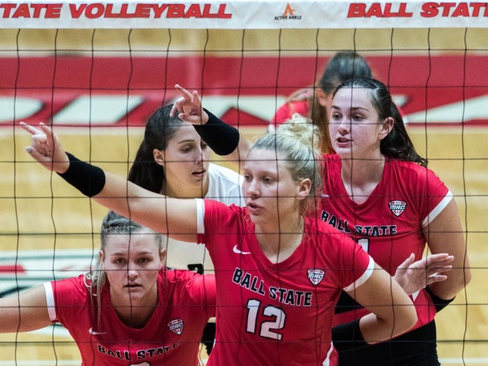 Ball State's women's volleyball faced the North Dakota State Badgers Sept. 7, 2018, at Worthen Arena. The Cardinals won all three matches. Stephanie Amador, DN