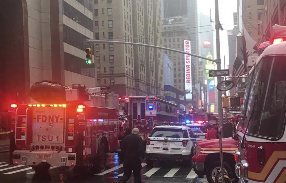 A helicopter crashed into a building in Manhattan June 10, 2019 in an apparent forced landing.