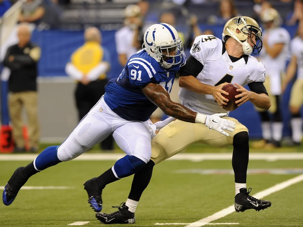 Jonathan Newsome led the Colts during the regular season with 6.5 sacks.PHOTO PROVIDED BY INDIANAPOLIS COLTS.
