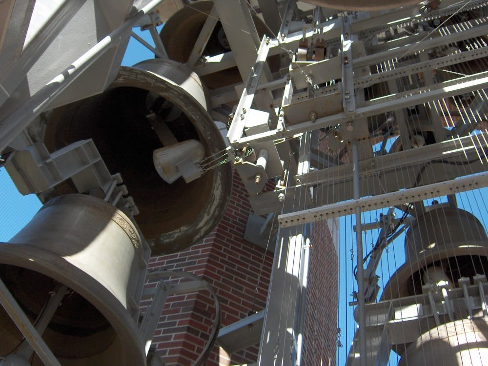 John Gouwens, an organist and carillonneur, will perform a free bell tower show in Shafer Tower Saturday for Family Weekend. After the performance, he will take small groups on tours of the bell tower. John Gouwens // Photo Provided