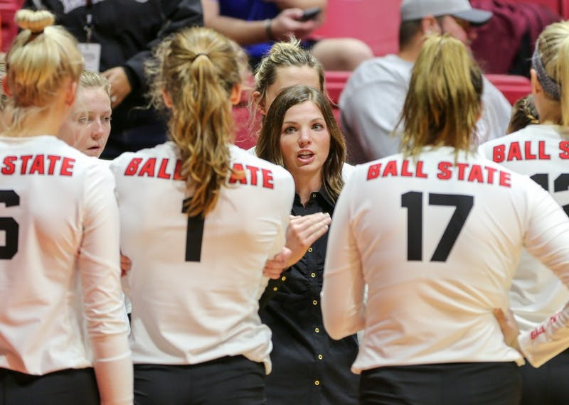 Ball State women's volleyball rallies to beat Northern Illinois, clinches MAC West title
