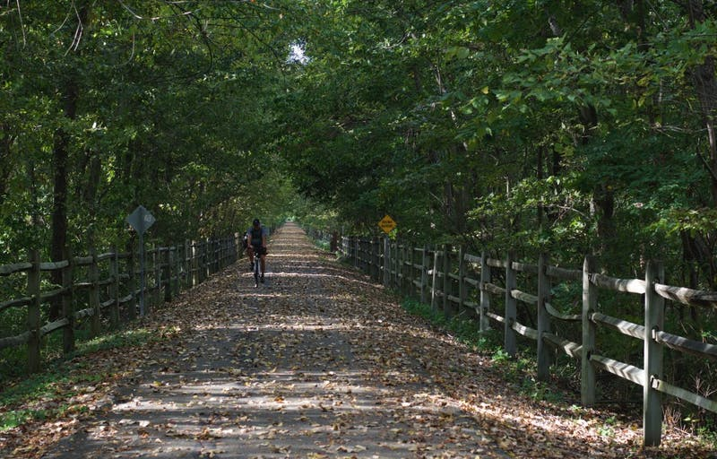 The Cardinal Greenway features different hiking trails that connect from Richmond to Marion, Ind. and have different trail heads throughout Muncie.SAMANTHA BRAMMER // DN FILE