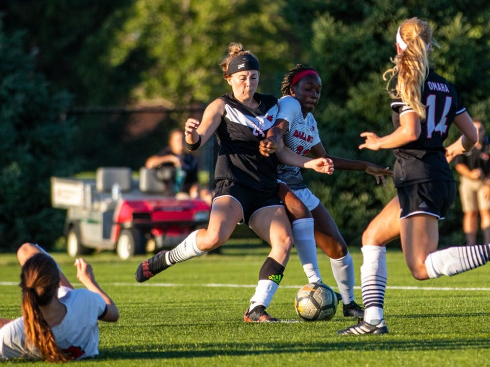 Ball State's Women's Soccer team defeated the University of Nebraska-Omaha in a game Sept. 14 at Briner Sports Complex. Neither team scored during the first half, but the Cardinals pulled through defeating the Durangos 3-1. The women's team now has a record of 4-1-1.