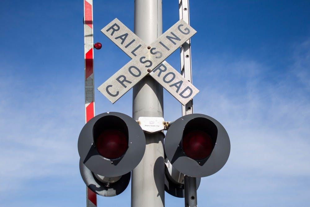 Trains in Muncie, Oct. 28, Grace Ramey // DN