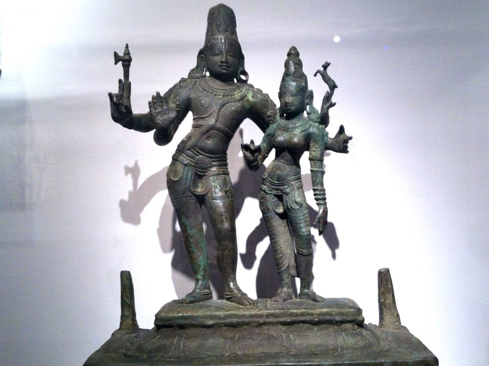 This1,000-year-old statue of the Festival Bronze of Shiva and Parvati at the David Owsley Museum of Art has been confirmed as stolen. Ball State is working with Homeland Security Investigations to return it to India. DN PHOTO RACHEL PODNAR